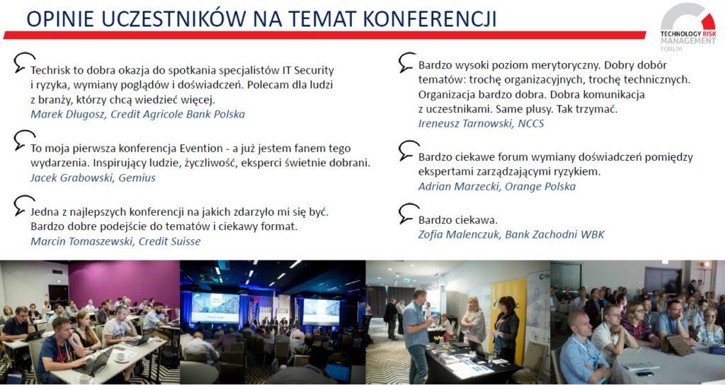 opinie na temat konferencji Technology Risk Management
